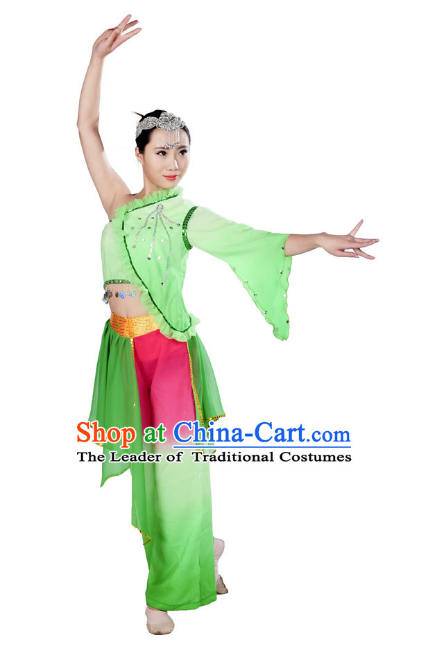 Chinese Classical Ribbon Hankerchief Dance Clothes Costume Uniforms for Women