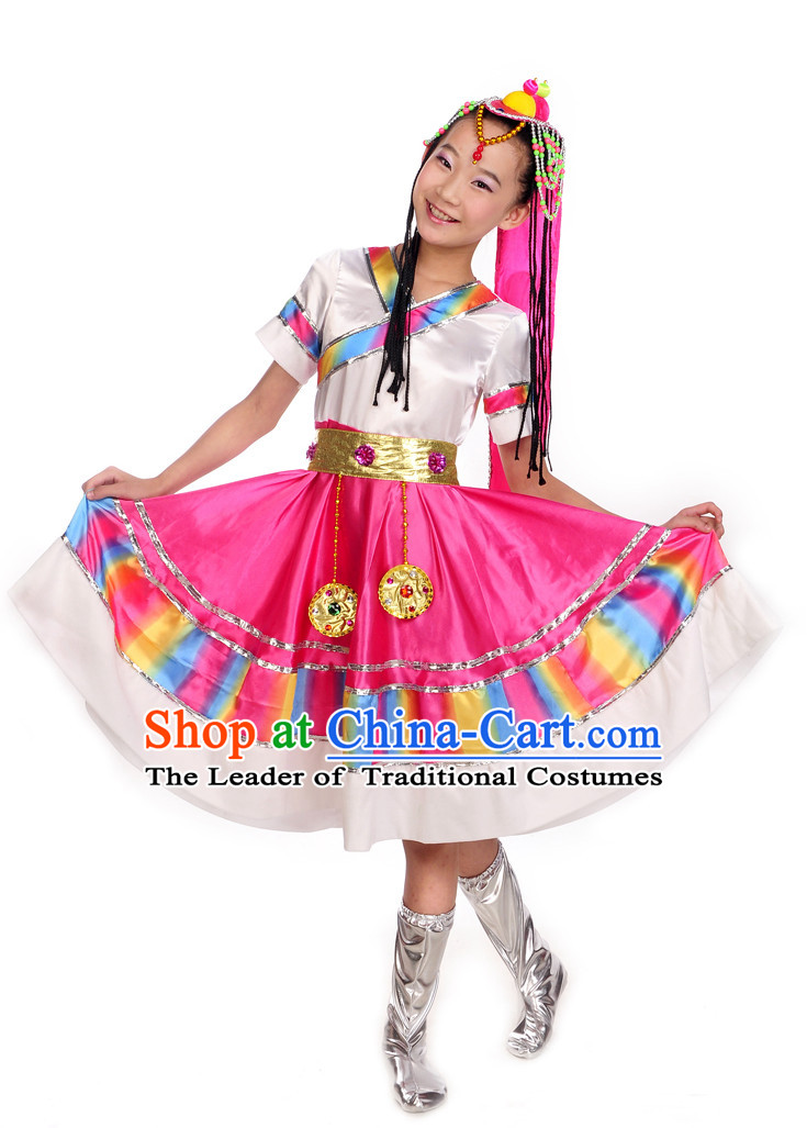 Chinese Mongolian Dance Kids Costume Dance Costumes Uniforms