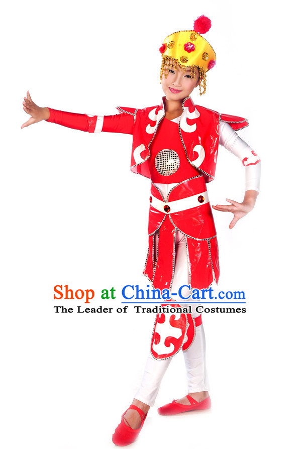 Chinese Superheroine Hua Mulang Costume Dance Kids Costume Dance Costumes Uniforms