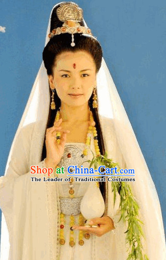 Ancient Chinese Fairytale Guanyin Halloween Hair Accessories