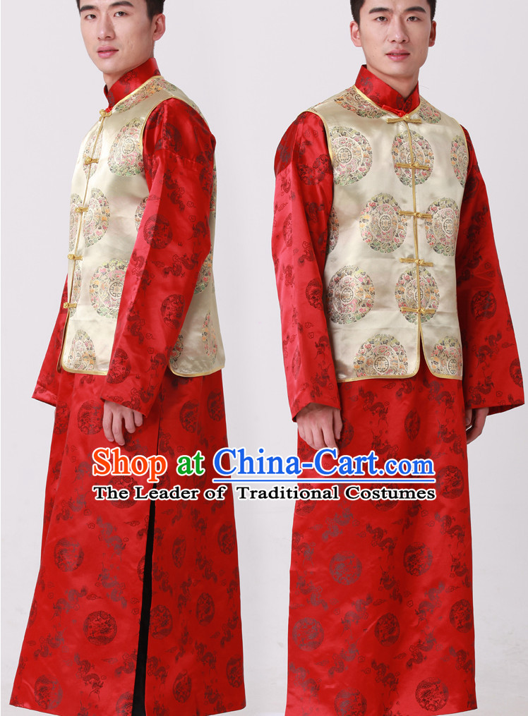 Chinese Classic Bridegroom Wedding Dresses
