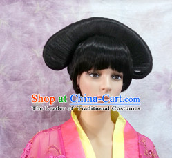 Qing Dynasty Female Black Wigs