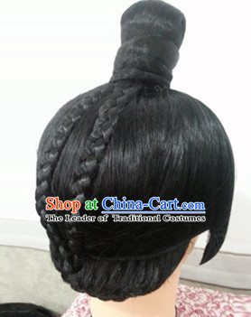 Chinese Ancient Male Prince Black Wigs