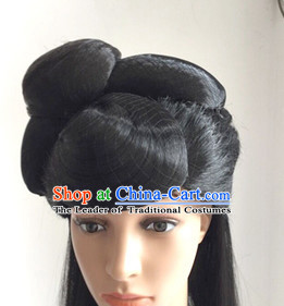 Chinese Ancient Beauty Black Fairy Wigs for Girls