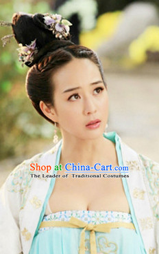 Chinese Tang Queen Wigs and Hair Jewelry Set