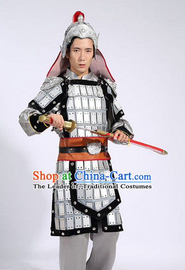 Chinese General Costume and Hat for Men