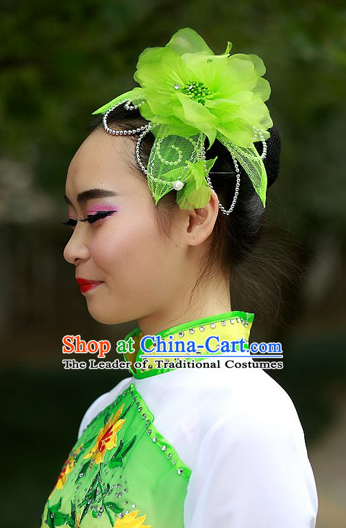 Green Chinese Folk Dance Headdress