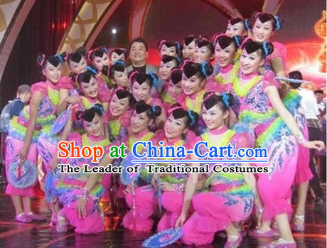 Chinese Teenagers Dance Costumes for Competition