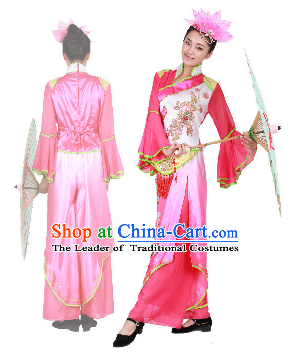 Chinese Teenagers Umbrella Dance Uniform for Competition