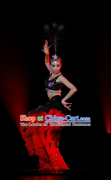 Chinese Peacock Dance Costumes Dancewear Discount Dane Supply Clubwear Dance Wear China Wholesale Dance Clothes for Women