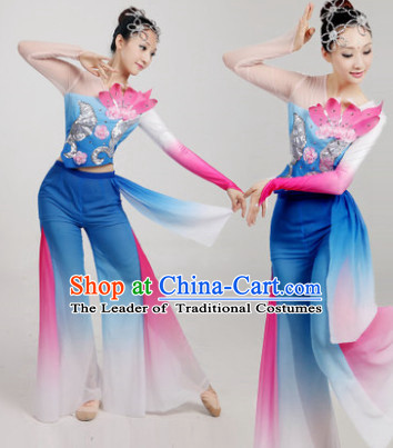 Chinese Folk Dance Costume Dancewear Discount Dane Supply Clubwear Dance Wear China Wholesale Dance Clothes for Women
