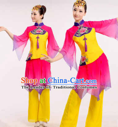 Chinese Folk Dance Costume Dancewear Discount Dane Supply Clubwear Dance Wear China Wholesale Dance Clothes for Girls