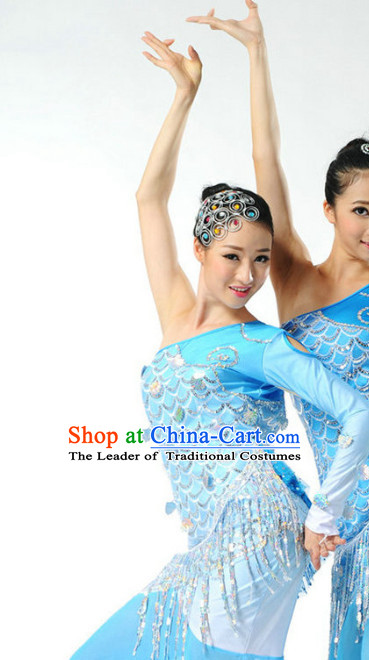 Chinese Folk Fish Dancing Costume Dancewear Discount Dane Supply Dance Wear China Wholesale Dance Clothes