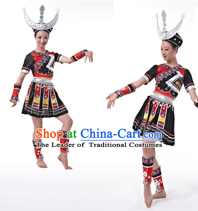 Chinese Miao Dancing Uniform Dancewear Discount Dane Supply Dance Wear China Wholesale Dance Clothes