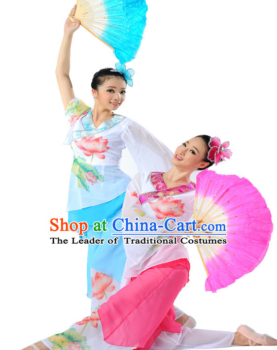 Chinese Fan Dance Uniform Dancewear Discount Dane Supply Dance Wear China Wholesale Dance Clothes