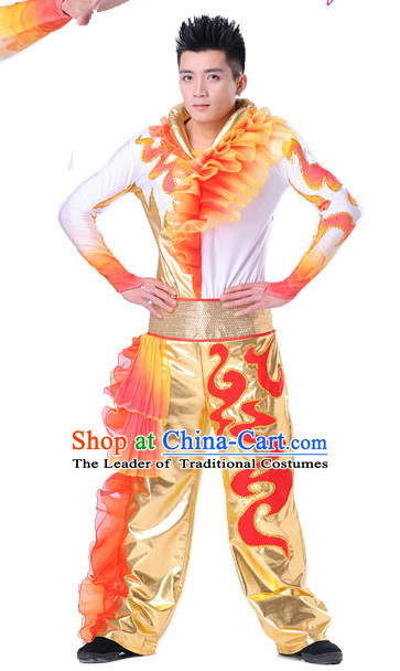 Chinese Folk Ethnic Dance Costume Complete Set for Men