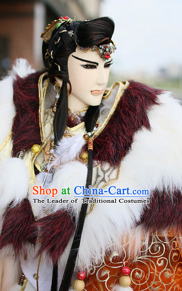 Chinese Ancient Emperor Hairstyles Hair Extensions Wigs Hair Lace Front Wigs Pieces Hair Accessories Set