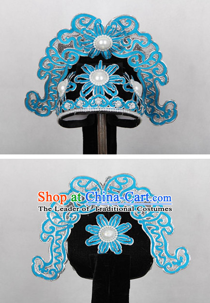Chinese Hsiao Sheng Opera Headwear Headpieces Official Hat for Men