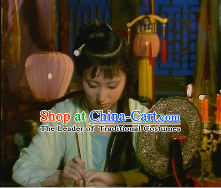 Dream of Red Chamber Lin Daiyu Costumes and Hair Accessories Complete Set
