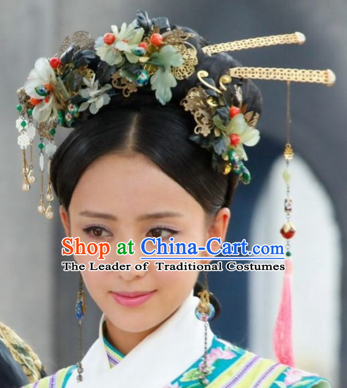 Chinese Qing Dynasty Hairpins Hair Accessories Headpieces