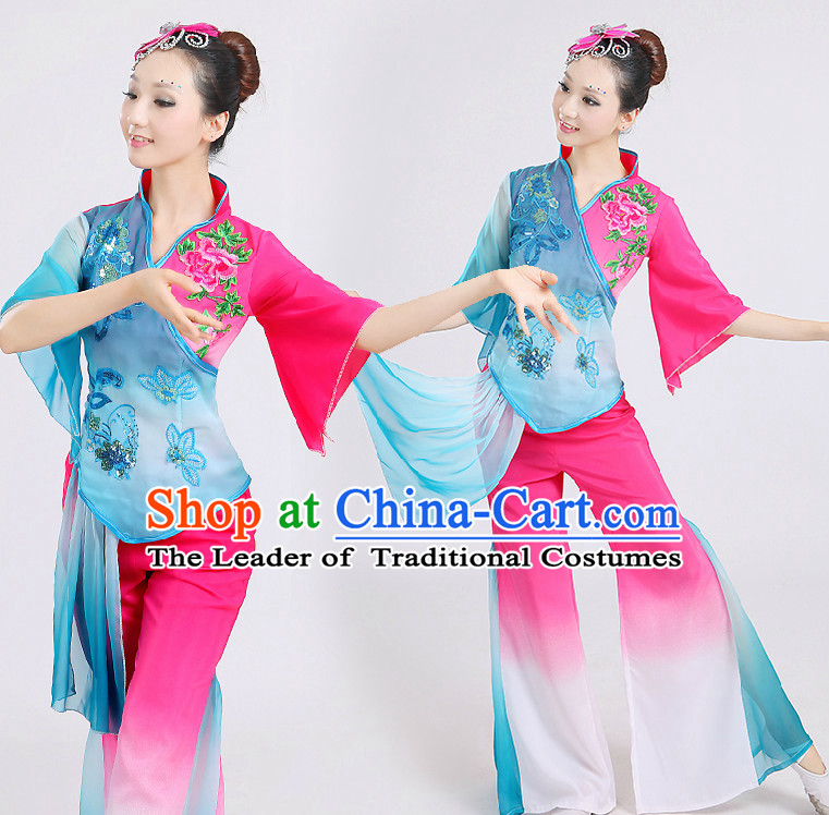 Chinese Folk Dance Costumes Dancing Costume Discount Dance Costume Gymnastic Leotard Dancewear China Dress Dance Wear