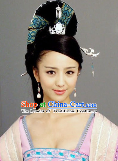 Chinese Imperial Palace Empress Hair Jewelry and Wigs Set.