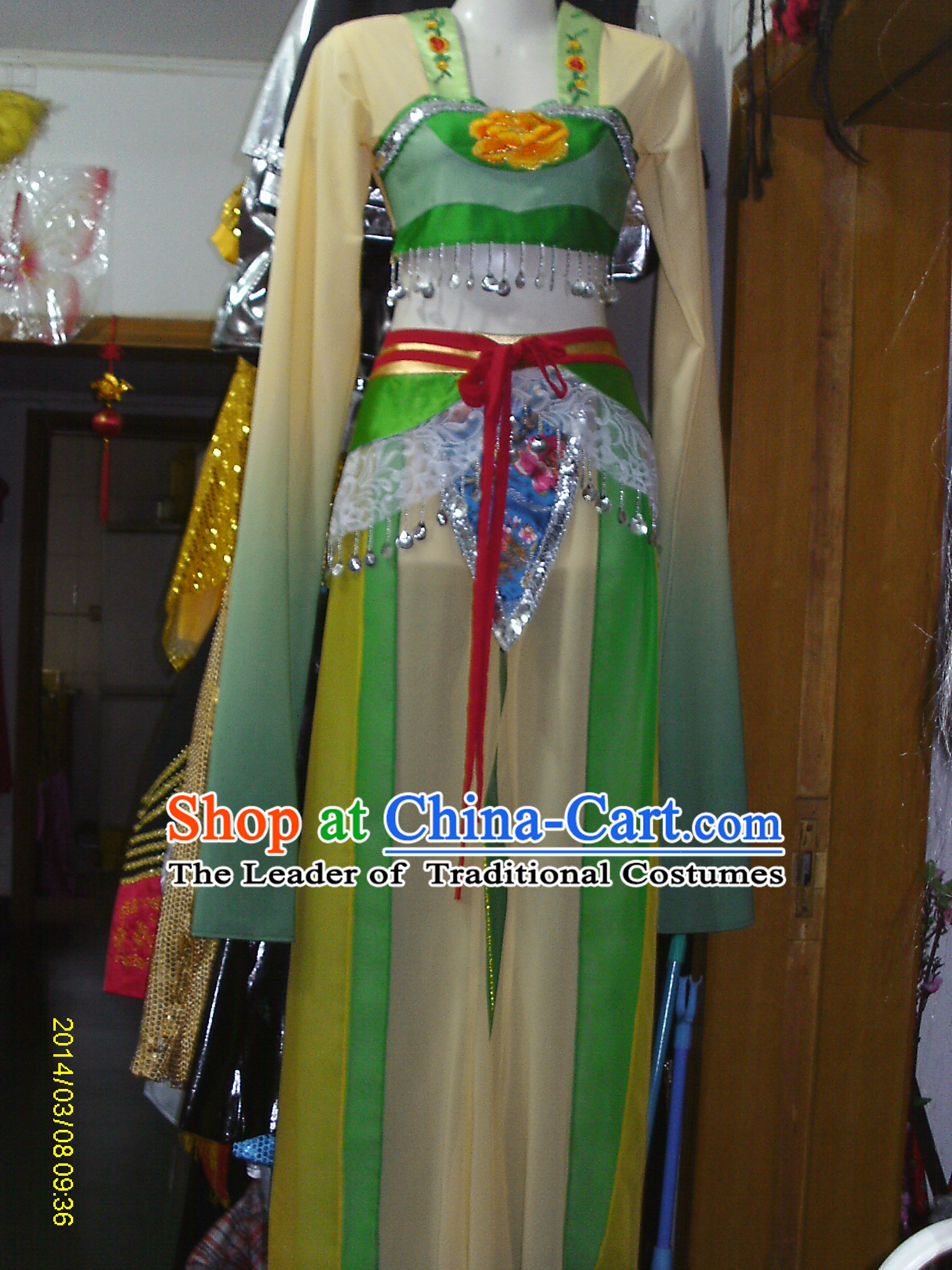 Chinese Folk Dance Costume Competition Costumes Set