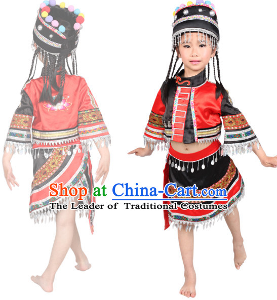 Chinese Folk Ethnic Dance Costume Competition Dance Costumes for Kids