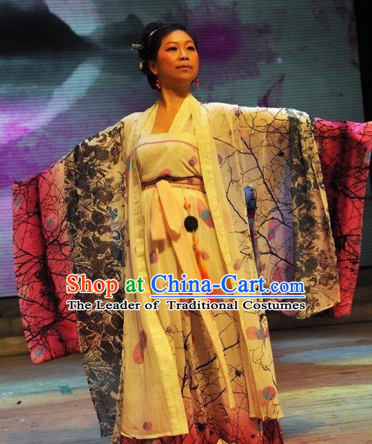 Chinese Queen Halloween Costume Hanfu Clothing Ancient Costume and Hair Jewelry online Shopping Complete Set
