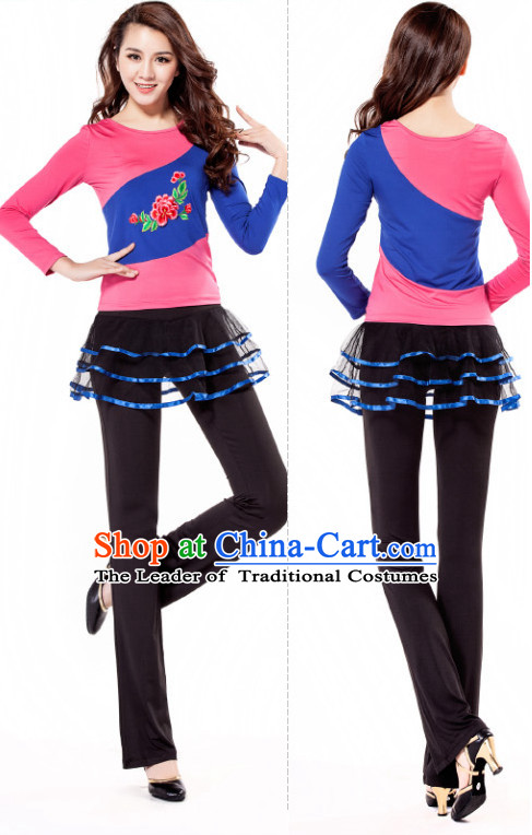 Pink Black Chinese Style Modern Dance Costume Ideas Dancewear Supply Dance Wear Dance Clothes Suit
