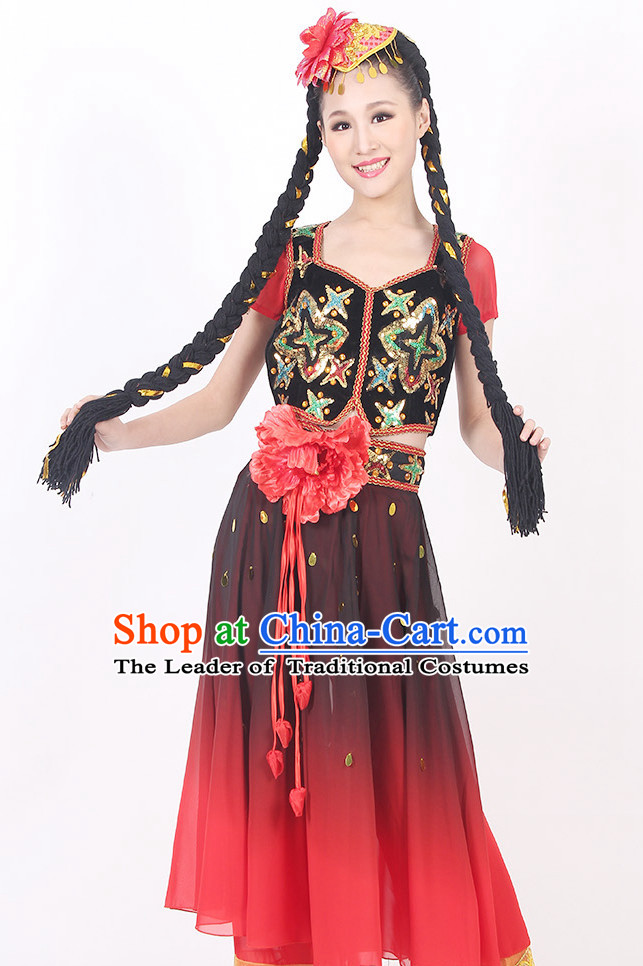 China Xinjiang Style Dance Costume Ideas Dancewear Supply Dance Wear Dance Clothes Suit