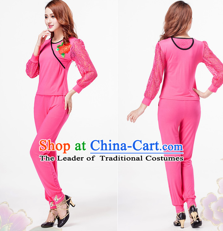 Pink China Style Modern Dance Costume Ideas Dancewear Supply Dance Wear Dance Clothes Suit