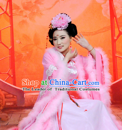 Chinese Women Princess Halloween Costumes Baby Hanfu Clothes Halloween Costume Clothing and Hair Accessories Complete Set
