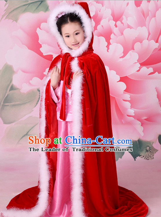 Chinese Princess Halloween Costumes for Kids Baby Hanfu Clothes Toddler Halloween Costume Kids Clothing and Hair Accessories Complete Set