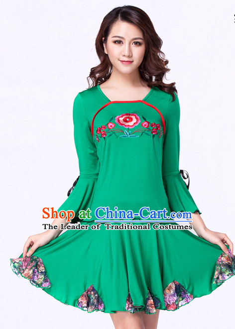 Green Chinese Style Parade  Costume Ideas Dancewear Supply Dance Wear Dance Clothes Suit