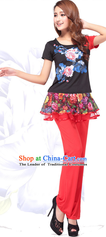 Chinese Style Modern Gymnastics Costume Ideas Dancewear Supply Dance Wear Dance Clothes Suit