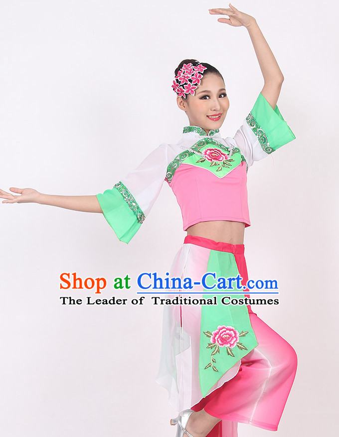 Chinese Style Handkerchief Dance Costume Ideas Dancewear Supply Dance Wear Dance Clothes Suit