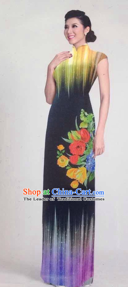 Traditional Ao Dai Dress Classic Dresses for Women