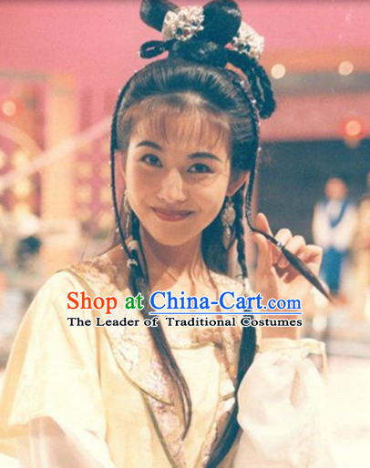 Ancient Chinese Girl Wigs and Hair Accessories