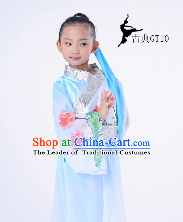 Chinese Classic Lotus Dancing Costume Complete Set for Kids