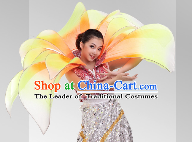 Chinese Stage Celebration Flower Dancewear Dance Costumes Complete Set for Women