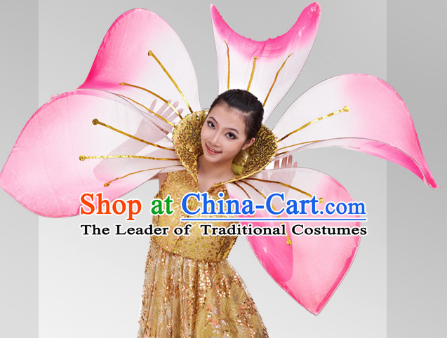 Chinese Stage Celebration Flower Dancewear Dancing Costume Complete Set for Women
