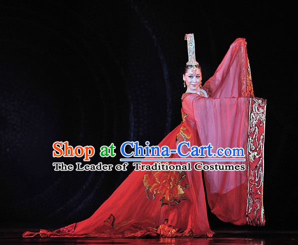 Chinese Professional Stage Performance Palace Queen Dance Costume Complete Set for Women
