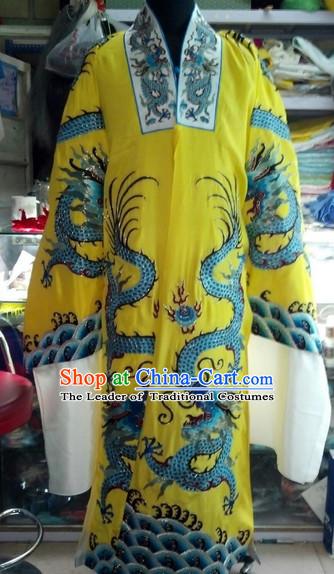 Chinese Long Yellow Dragon Robes