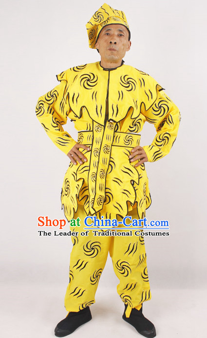 Ancient China Opera Monkey King Costume and Hat