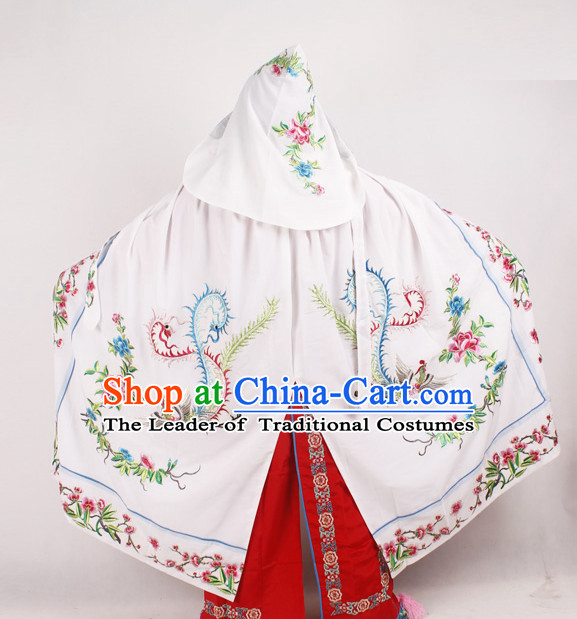 White Phoenix Embroidered Opera Princess Cape Complete Set