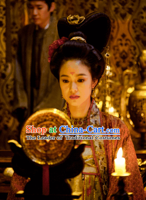 Ancient China Palace Queen Black Wigs and Accessoies