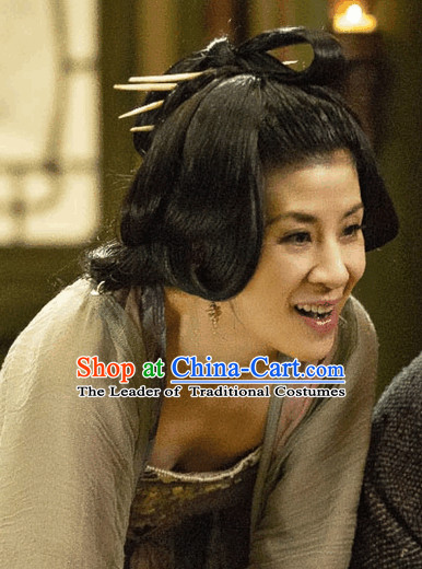 Ancient China Lady Wigs and Hairpins