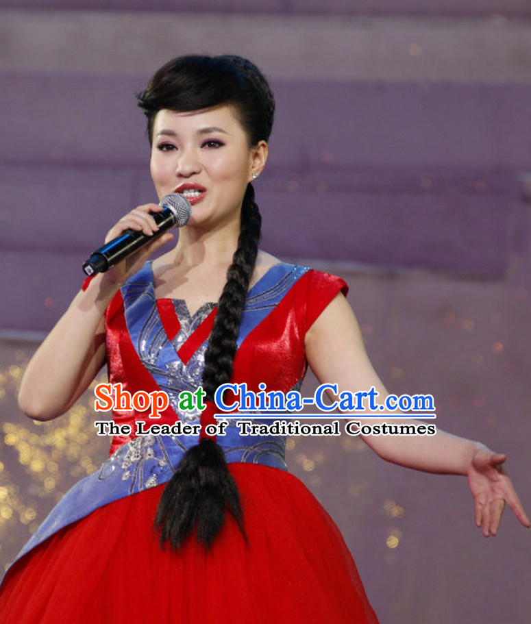 Chinese Style Singer Evening Dress