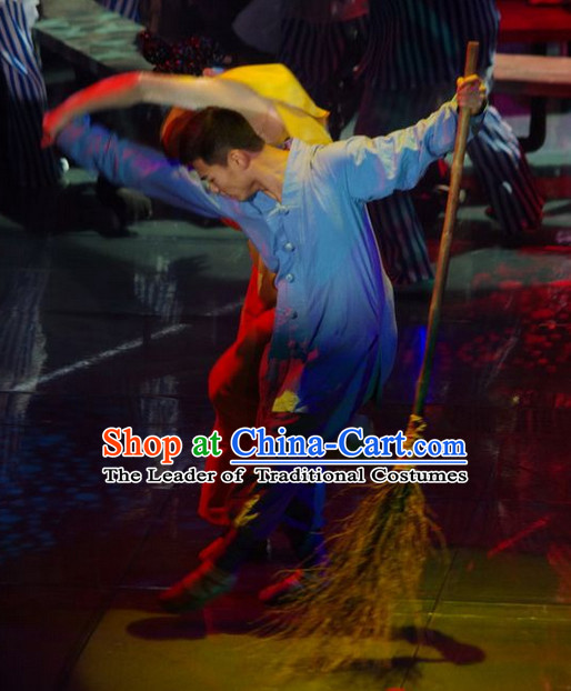 Shaolin Temple Cleaner Costume for Men